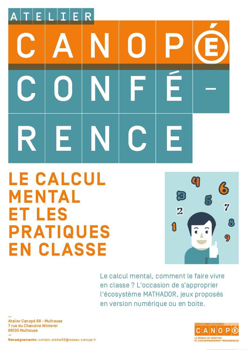"""Conférence Eric Trouillot """"Calcul mental-Jeux-Numérique-Mathador"""" @ Antenne du Conseil Départemental - Altkirch"""